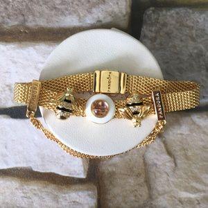 Pandora reflexions gold tone charm bracelet